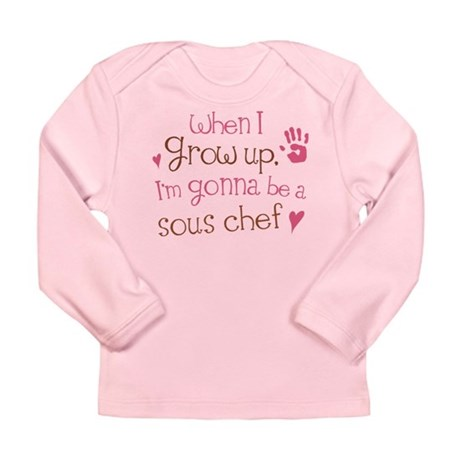 Kids Future Sous Chef Long Sleeve Infant T-Shirt