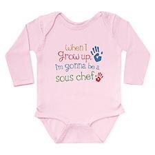Kids Future Sous Chef Long Sleeve Infant Bodysuit