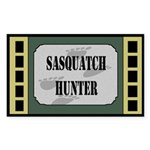 Sasquatch Hunter Dark Rectangle Sticker