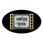 Sasquatch Hunter Dark Oval Sticker