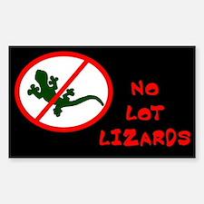 No Lot Lizards Rectangular Decal