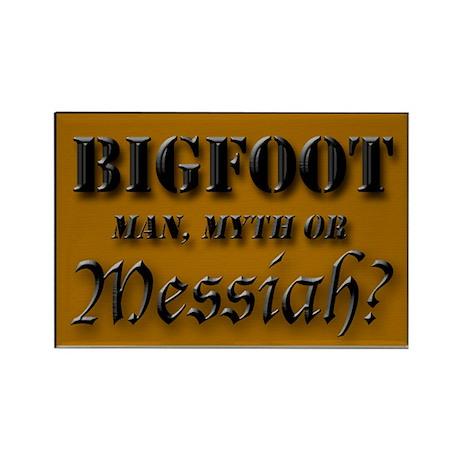 Bigfoot Messiah Rectangle Magnet