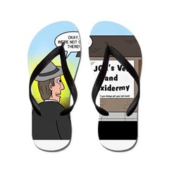 Vet Taxidermist Flip Flops