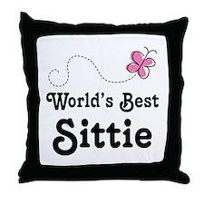Sittie (Worlds Best) Throw Pillow