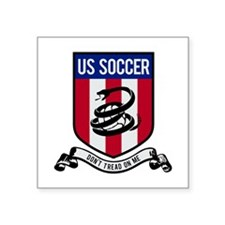 "USA Soccer Square Sticker 3"" x 3"""