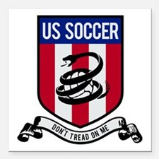 "USA Soccer Square Car Magnet 3"" x 3"""