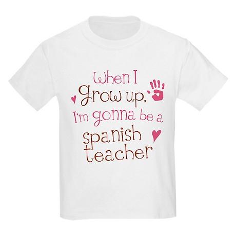 Future Spanish Teacher Kids Light T-Shirt