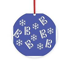Tenor/Alto Clef Snowflake Ornament -b (Round)