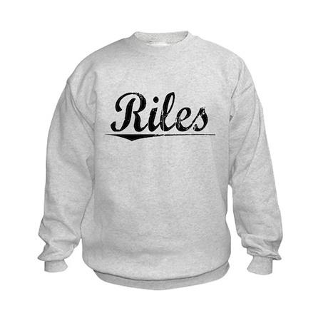 Riles, Vintage Kids Sweatshirt