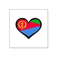 Eritrea Love Eritrean Rectangle Sticker