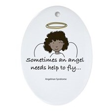 Angelman Syndrome Awareness Oval Ornament