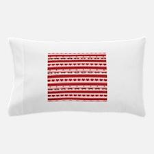 Valentine Sock Monkey Stripes Pillow Case