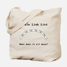 Double Link Lists Tote Bag