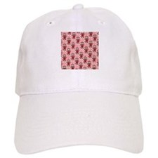 Valentine Heart Sock Monkey Baseball Cap
