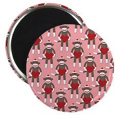 """Valentine Heart Sock Monkey 2.25"""" Magnet (100 pack"""