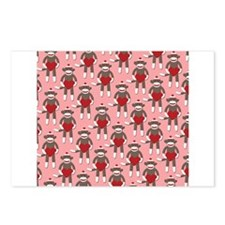Valentine Heart Sock Monkey Postcards (Package of