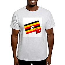 Uganda Ash Grey T-Shirt