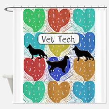 vet tech 2 hearts.PNG Shower Curtain