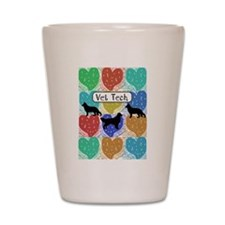 vet tech 2 hearts.PNG Shot Glass