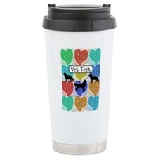 vet tech 2 hearts.PNG Travel Mug