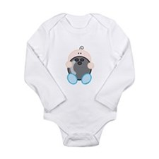 Bowling Boy.png Long Sleeve Infant Bodysuit