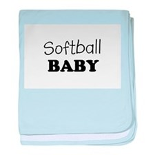 Softball.png baby blanket