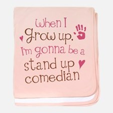 Future Stand Up Comedian baby blanket