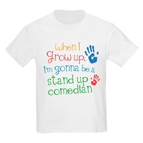 Future Stand Up Comedian Kids Light T-Shirt