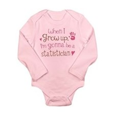 Kids Future Statistician Long Sleeve Infant Bodysu