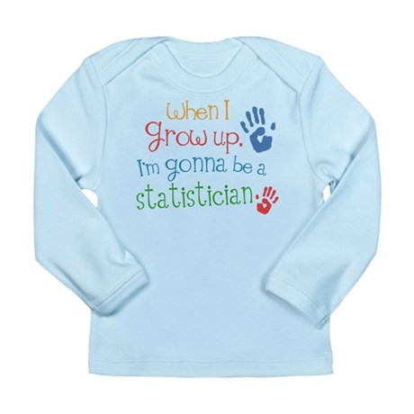 Kids Future Statistician Long Sleeve Infant T-Shir