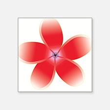 "Frangipani Pink Square Sticker 3"" x 3"""