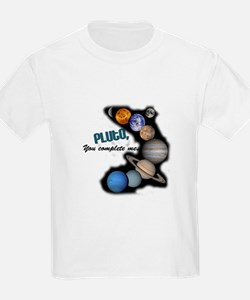 Pluto You Complete Me Kids T-Shirt