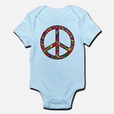 Rainbow Swirl Peace Sign Infant Bodysuit