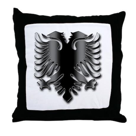 Black Albania Eagle Throw Pillow