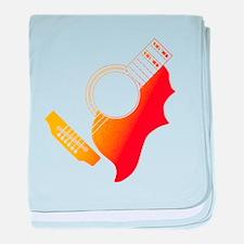 Guitar 3 baby blanket
