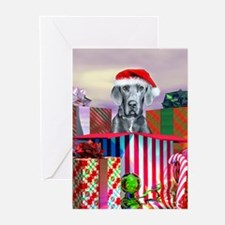 Blue UC Great Dane Claus Greeting Cards (Package o