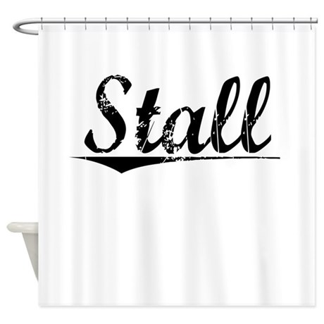 Stall Vintage Shower Curtain By Thecafemarket