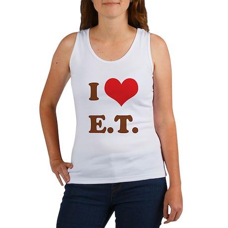 I Love E.T. Women's Tank Top