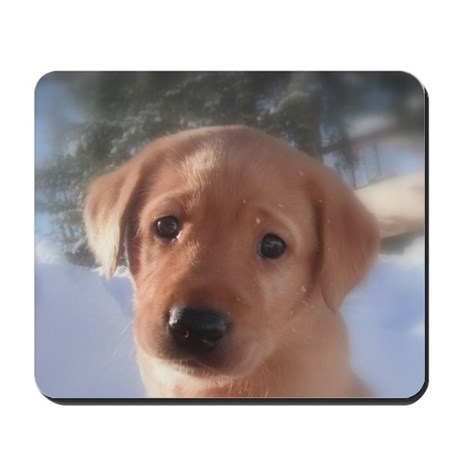 Yellow Lab puppy Mousepad