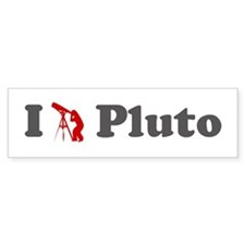 I Love Pluto Bumper Bumper Sticker