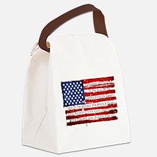 Patriotic Pledge of Allegiance US Canvas Lunch Bag