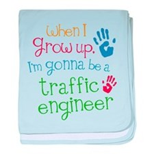 Future Traffic Engineer baby blanket