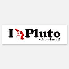 Pluto the Planet Bumper Bumper Bumper Sticker