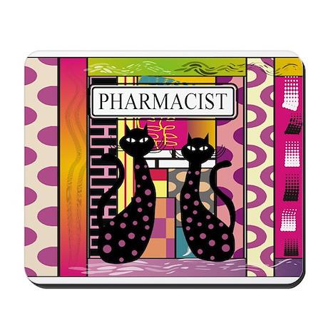 pharmacist black cat TOTE CP.PNG Mousepad