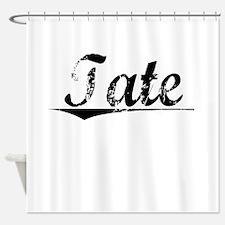 Tate, Vintage Shower Curtain