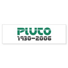 Pluto Memorial 2 Bumper Bumper Sticker