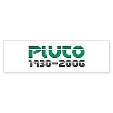Pluto Memorial 2 Bumper Bumper Sticker