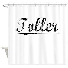 Toller, Vintage Shower Curtain