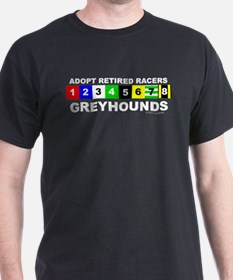 Adopt Greyhounds Black T-Shirt