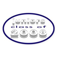 """""""Class of 2008 Juniors"""" Oval Decal"""